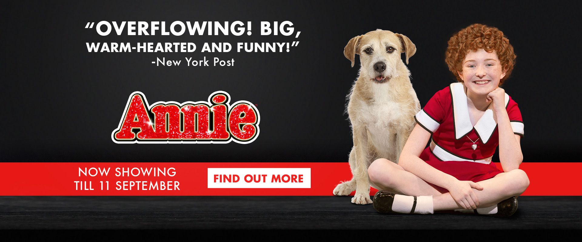 Annie the Musical at MasterCard Theatres - Marina Bay Sands