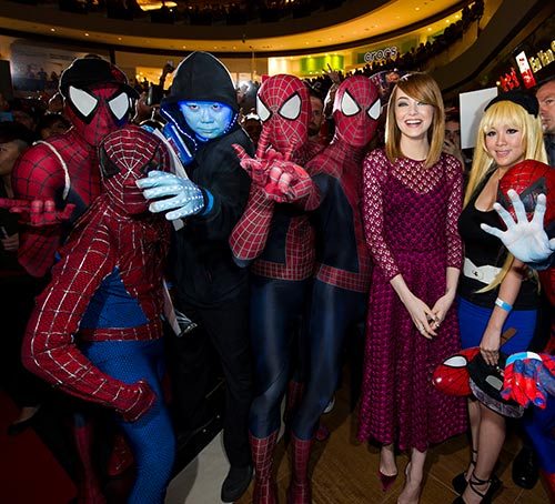 The Amazing Spider-Man 2 Red Carpet Event at Marina Bay Sands