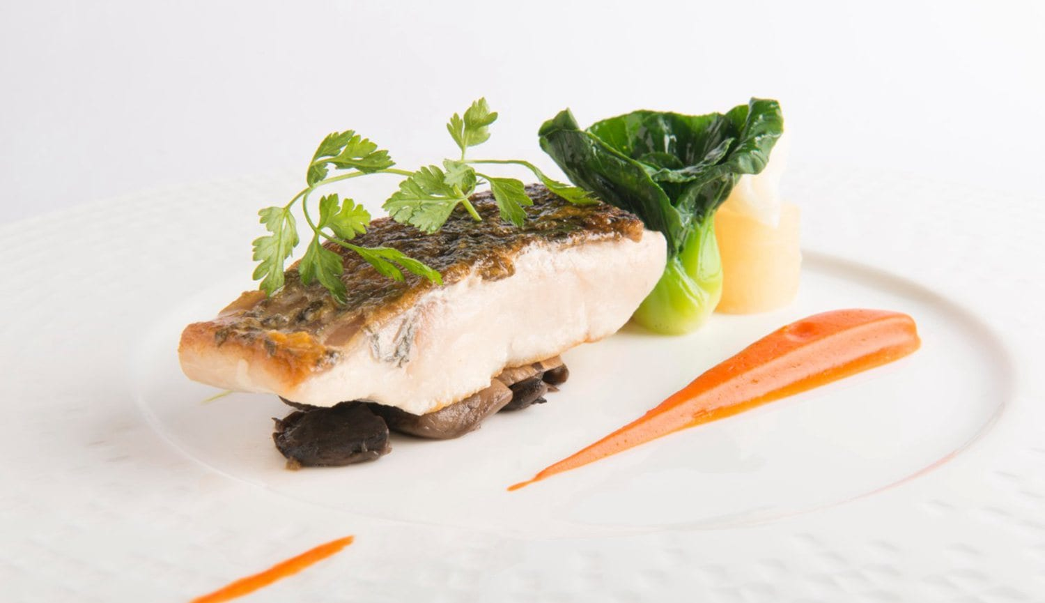 Harvest Menu Signature Dishes - Pan Seared Sea Bass Fillet