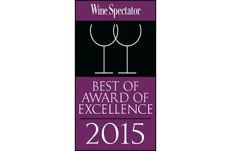 2015年Award of Excellence - 『Wine Spectator』誌