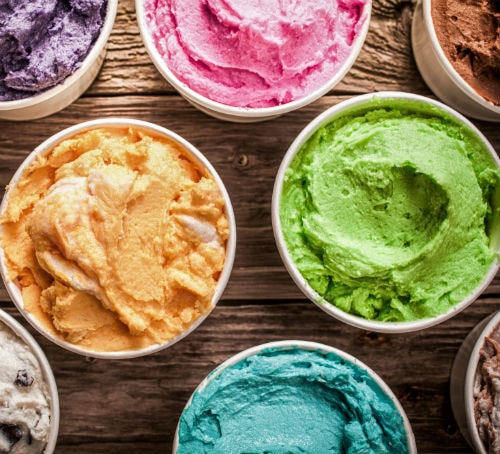 Colourful Ice Cream Assortment