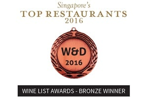 Wine List Awards - Bronze Winner