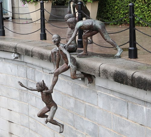 First Generation - The People of the River statue series in Singapore