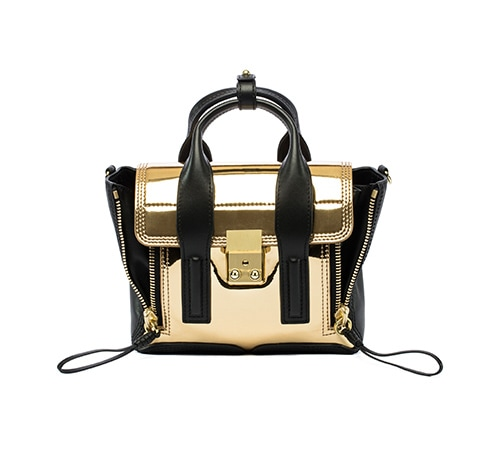 3.1 Phillip Lim: Pashli Mini Satchel in Gold