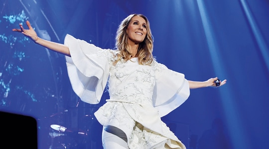 Celine Dion at Marina Bay Sands